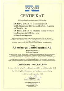 Vårt material är CE-märkt enligt EU-norm samt Radonkontrollerat och lämpar sig väl för användning vid husbyggnad.